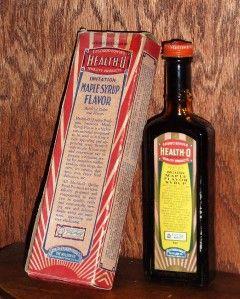 Old Health O Maple Syrup Flavor Original Box