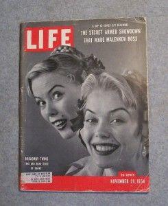 Life ~ Marilyn Monroe Cover, Story & Photos November 29, 1954