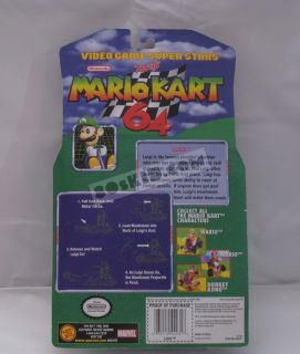 2000 Toy Biz Nintendo Mario Kart 64 Luigi MOSC Mint SEALED Card Figure
