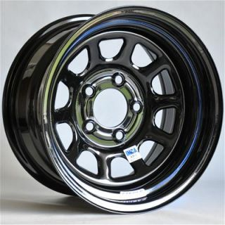 Circle Racing Wheels Series 25 Black Wheel 15x8 5x5 Set of 4