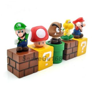 Lot 5 Super Mario Bros 2 Luigi Mario Figure Toy MS84