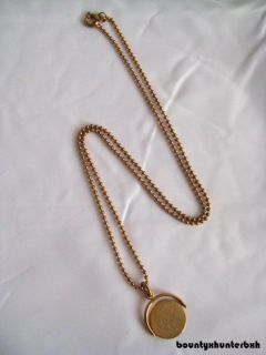 Marc Jacobs Gold I Love You Spin Charm Necklace Jewelry