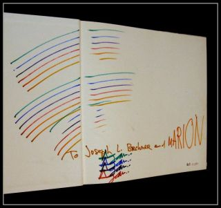 Yaacov Agam Kinetic Movement Signed Doodled Book Huge