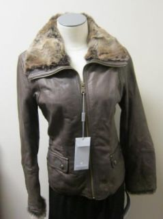 Andrew Marc Treason Leather Jacket XS Brown $498