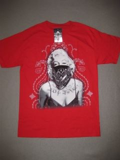 OG Zane Red Marilyn Monroe 187 Inc Shirt Tee Tattoo Mens SS Short