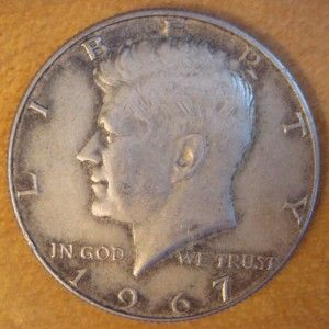 1967 Kennedy Half Dollar No Mint Mark