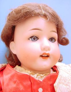 "1900s Heubach Kopplesdorf 23"" Bisque Head Leather Kid Body Doll 275"