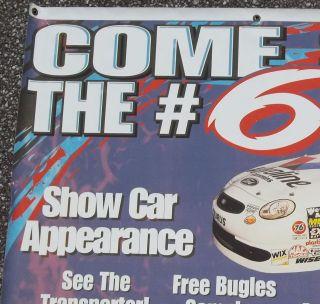1999 Mark Martin Bi Lo Store Banner Promoting Car Appearance