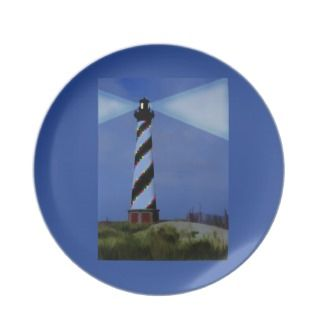 Cape Hatteras Lighthouse at Christmas Plate