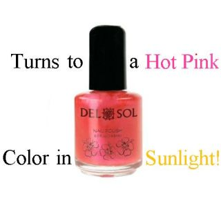 Del Sol ♦ Color Changing Nail Polish ♦ Pretty in Pink