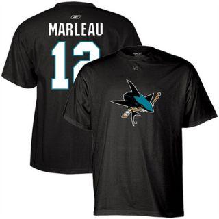 San Jose Sharks Patrick Marleau Black Jersey T Shirt Sz XXL 2XL