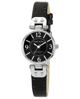 Anne Klein Watch, Womens Black Leather Strap 26mm 10 9443BKBK   All