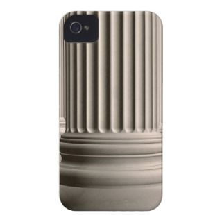 Colonnade of classic Ionic white marble columns iPhone 4 Case Mate