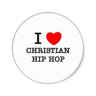 Love Christian Hip Hop Round Sticker