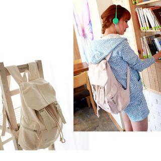 Casual Punk Girl Canvas Shoulder Bag School Backpack Satchel