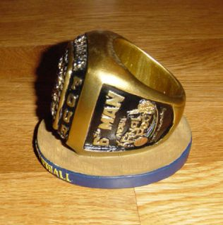 07 Marquette Golden Eagles Final Four Ring Dwayne Wade