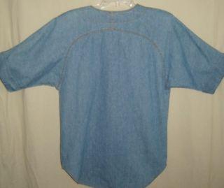 Marshall Rousso USA Vtg Denim Chambray Studded Western Top Shirt