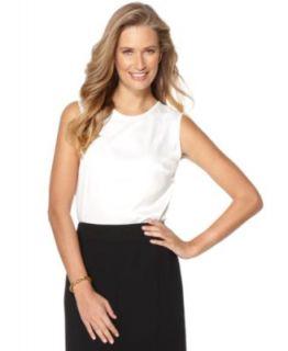 Kasper Top, Sleeveless Scoop Neck Tank   Womens Suits & Suit Separates