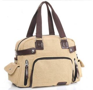 Canvas Travel Shoulder Bag Bookbag Duffle Casual Work Unisex