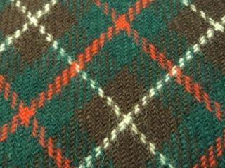 Marshall Field Company Necktie Checks Pattern Green Brown Wool Tie