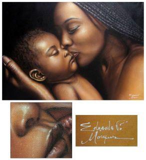 MATERNAL LOVE~~Orig Painting~~Brazil Fine Art NOVICA