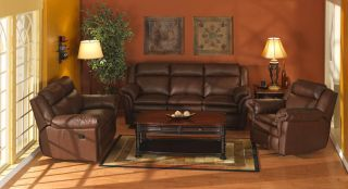 Elegance Classic Marston Leather Sofa and Loveseat Set