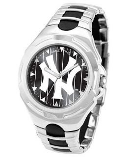 Game Time Watch, Mens New York Yankees Black Rubber and Stainless