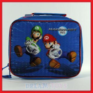 Super Mario Brothers Mario Kart Wii Lunch Bag Box Case Bros Luigi