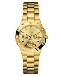 GUESS Watch, Womens Gold tone Stainless Steel Bracelet 44mm U11058L1