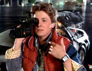 Back to The Future Hoverboard Marty McFly Costume Set Sports Almanac