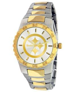 Game Time Watch, Mens Pittsburgh Steelers Black Rubber and Stainless