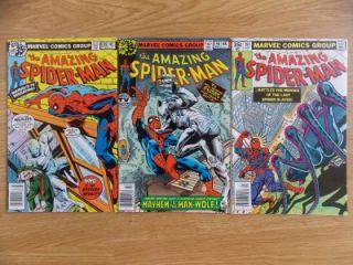 Amazing Spider Man #189, 190 & 191 (1979) 9.2 HIGH GRADE Bronze Age