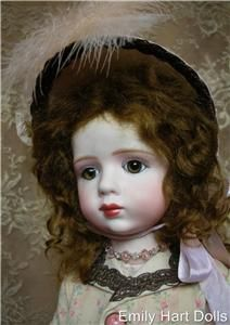 Antique Reproduction porcelain doll by Emily Hart costume Mary Lambeth