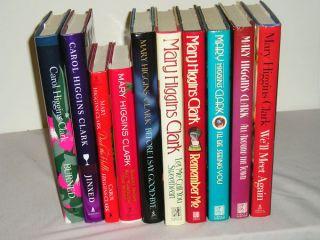11 Mary Carol Higgins Clark Hardcover Mystery Books
