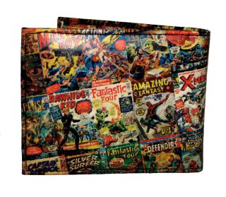 Marvel Comics 70th Anniversary Comic Cover Collage Bifold Wallet