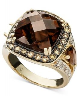 Le Vian 14k Gold Ring, Smoky Quartz (7 1/5 ct. t.w.) and Brown and