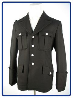 WW2 German Elite Black Wool M32 Service Tunic XXL