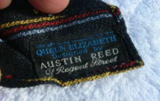 WHITE STAR LINE RMS QUEEN ELIZABETH AUSTIN REED MAIDEN VOYAGE TIE 1946