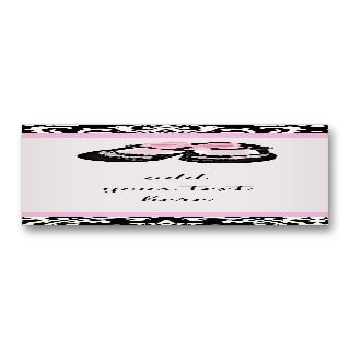 Black Damask Baby Shower Favor Tags Business Cards
