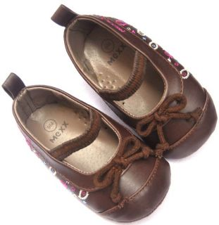 Brown Mary Jane Kids Baby Toddler Girl Shoes Size 1 2 3
