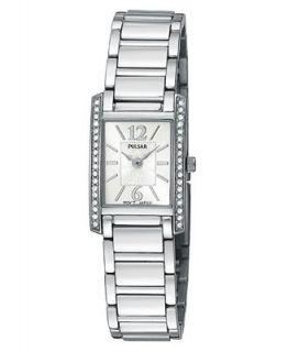 Pulsar Watch, Womens Stainless Steel Bracelet PEGC51