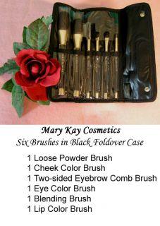 Mary Kay 6 PC Full Size Cosmetic Brush Travel Case Organizer Set