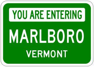 Marlboro Vermont You Are Entering Aluminum City Sign