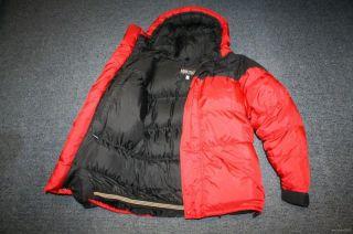 W9J Marmot 8000 M Meter GOOSE Down Winter Jacket Coat Parka Men M Red