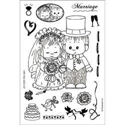 Morehead Marriage Wedding Acrylic Unmounted Bride Groom Card Scrapbook
