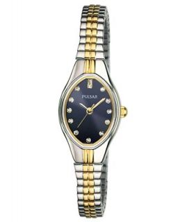 Pulsar Watch, Womens Two Tone Stainless Steel Expansion Bracelet 18mm