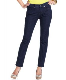 Levis Petite 512 Perfectly Slimming Straight Leg Jeans, Hammered Dark
