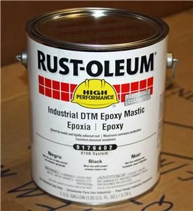 Rustoleum Gal Industrial Epoxy Mastic Semi Gloss Black Coating Paint