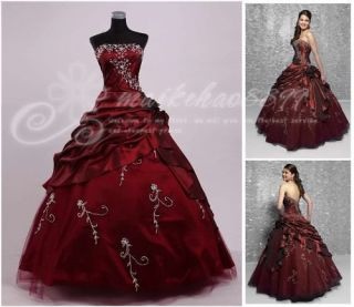 New Popular Quinceanera Masquerade Wedding Dress Prom Ball Gown Size