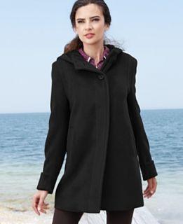 Jones New York Coat, Hooded Angora Wool Blend
